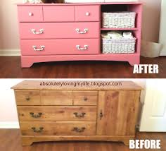 Dresser Into Changing Table Loving Upcycled Goodwill Dresser Repurposed Into Nursery