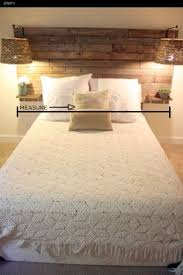 Headboard Made From Pallets Whitewashed Rustic Headboard Made From Fenceposts Bedrooms