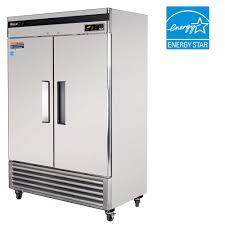 glass door commercial refrigerator air 54 inch super deluxe 2 door 49 cu ft reach in commercial