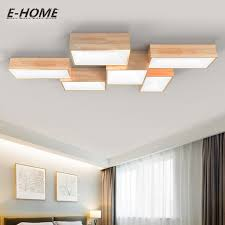 Ceiling Lighting For Bedroom Modern Simple Solid Wood Ceiling L Led Creative Rectangular Diy