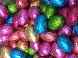 Easter Egs by Solid Milk Chocolate Foil Easter Eggs X 500g Approx 100 Eggs