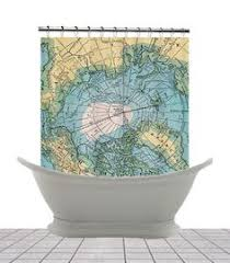 Map Home Decor Shower Curtain Colonial Possessions Vintage World Map Home