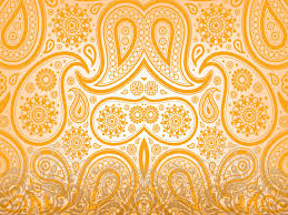 floral orange ornaments powerpoint templates pattern free ppt