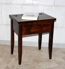 Schreibtisch Kolonial Beistelltisch Kolonial Nachttisch Mit Klappe Nachtkommode Holz Massiv