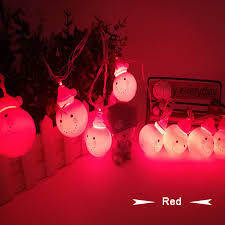 led christmas light garland curtain string lights snowman lamp
