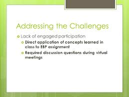 utilizing virtual small group learning in teaching the ebp process