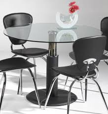 Modern Glass Kitchen Table Dining Room Exciting Interior Furniture Design With Saloom