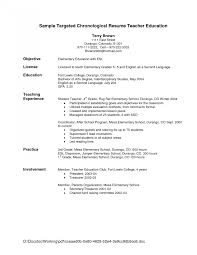 Resume Sles For Teachers Without Experience resume letter objective esl tutoring sles cover employment