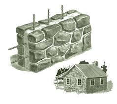 cabins built of stone brick or other masonry materials have a