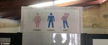Scottish Bathroom Signs Italian Hotel Displays Separate U0027gay U0027 Icon On Toilet Sign Daily