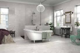 Travertine Tile Bathroom by Replica Grey Travertine Gloss Wall Tile
