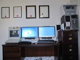 Office Work Desks My Home Office Desk Setup Chief Technology Officer S