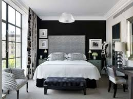 black and white bedroom cupboards jet black wall paint black