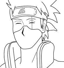 naruto coloring pages kakashi anime kakashi naruto