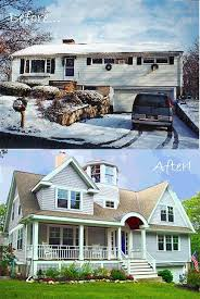 split level homes before and after before after split level