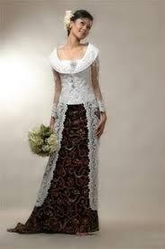 wedding dress batik combining traditional dress white dress pics