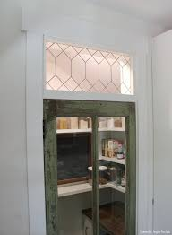faux stained glass kitchen cabinets simple faux leaded glass and our rustic pantry door
