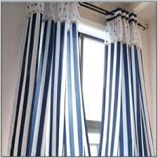 White And Blue Striped Curtains And White Striped Curtains Teawing Co