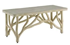 bayou faux bois concrete branch coffee table mecox gardens