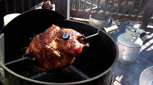 turkey rotisserie matone thanksgiving part 2 weber charcoal rotisserie turkey