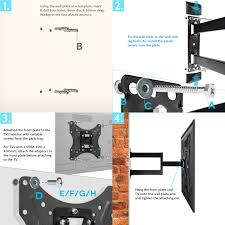 tv wall mount 400 x 400 yousave accessories slim cantilever tv wall mount bracket large