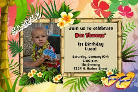 luau birthday invitation