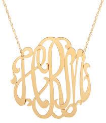large monogram necklace cheshire monogram necklace frill clothing