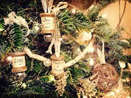 rustic ornaments using vintage spools lace bells ornaments and