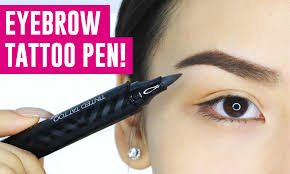 clio tattoo eyebrow pen eyebrow tattoo pen omg does it work tina tries it youtube