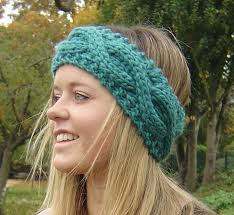 knitted headbands knitting pattern chunky headband ear warmer with cable rope pdf