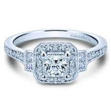 preset 14k white gold round halo diamond engagement ring 3 260