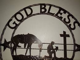 god bless our home wall decor god bless our home cowboys prayer church metal wall art western