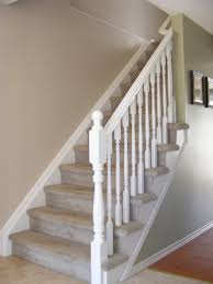 simple white stair railing for possible second story fixer upper