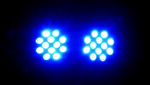 road light with 12 led blue