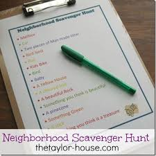 nature scavenger hunt for