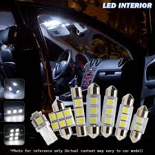 Interior Car Led Light Kits 6x White Led Bulbs Interior Car Lights Lamps Package For 2000 2003