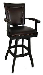 34 Inch Bar Stool Elegant Bar Stool With Back And Arms Padded Swivel Bar Stool With