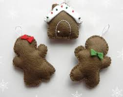 pdf pattern gingerbread family ornaments pattern felt