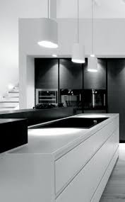 Kitchen In Black And White Cabinets Kitchen In Black And White