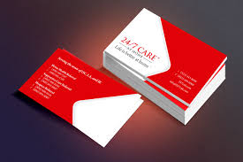 24 7 care print business card designed by osmond marketing