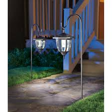 ace hardware solar lights living accents solar powered led dual use coach style light black 2