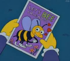 simpsons valentines day card beaming for bunnies s day