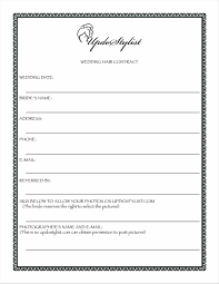 wedding contracts for makeup artists 30 images of hair and makeup contract template ajansa net
