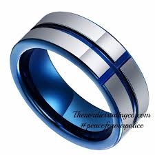 thin blue line wedding band top 25 best jewelry ideas on thin blue line