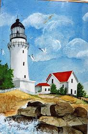 249 best lighthouse things images on pinterest light house lighthouse painted by sylvia lovell