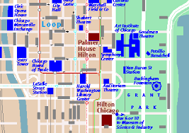 chicago map with attractions tourism maps by chicago cartographics