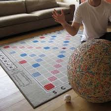 Game Room Rug Wordy Board Game Rugs Scrabble Board And Gaming