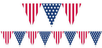 4th Of July Bunting Decorations American Flag Banners Flag Bunting U0026 Yard Flags Party City