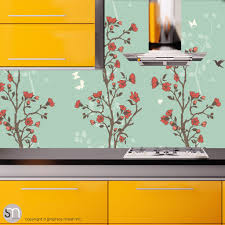 japanese garden of flowers peel u0026 stick wallpaper graphicsmesh