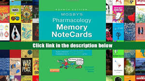 audiobook mosby s pharmacology memory notecards visual mnemonic